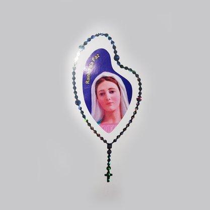 Adesivo Rainha da Paz 12x5cm