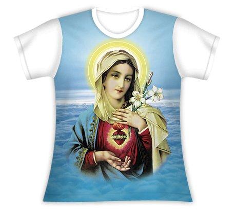 Baby Look Imaculado Coração de Maria