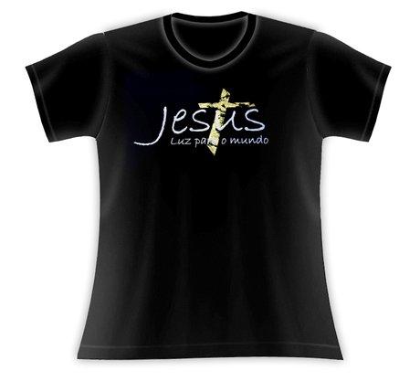 Baby Look Jesus Luz para o Mundo preta