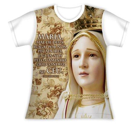 Baby Look N Sra de Fátima Mensagem Papa Francisco