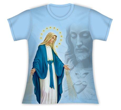 Baby Look Nossa Senhora das Graças e Jesus