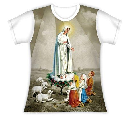 Baby Look Nossa Senhora de Fátima e os Pastorinhos