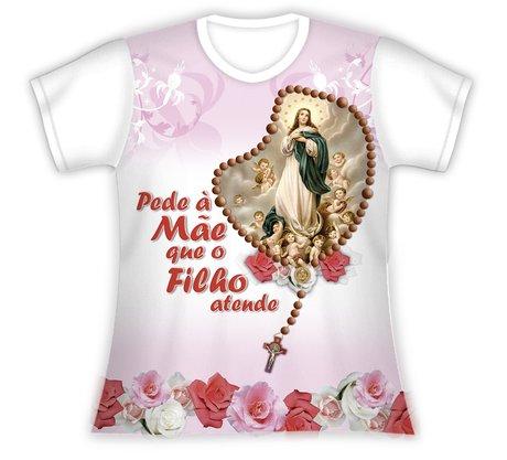 Baby Look Pede a Mãe Nossa Senhora da Conceição
