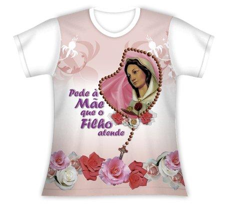Baby Look Pede a Mãe Rosa Mística