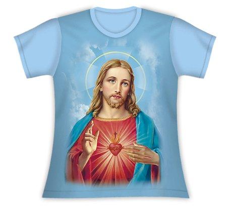 Baby Look Sagrado Coração de Jesus