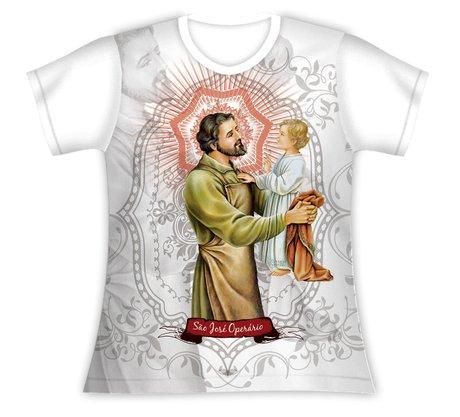 Baby Look São José Operário e Menino Jesus