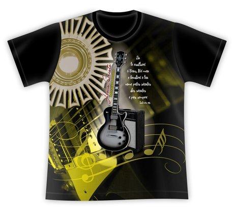 Camiseta Adoração e Louvor preta