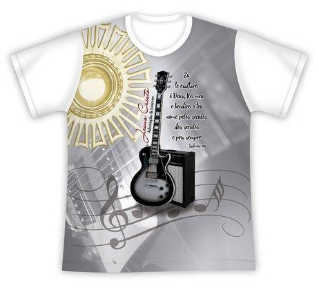 Camiseta Adoração e Louvor branca