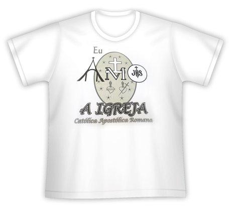 Camiseta Eu Amo a Igreja