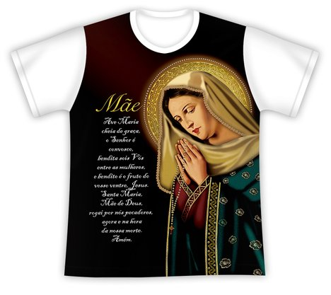 Camiseta com Oração Ave Maria