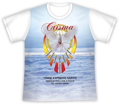 Camiseta Crisma Vinde Espírito Santo