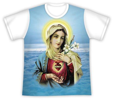 Camiseta Imaculado Coração de Maria