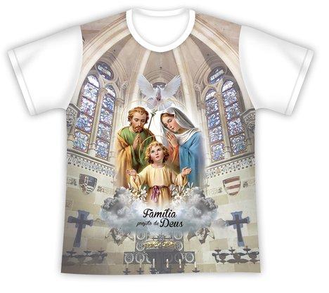 Camiseta Infantil sagrada Família Projeto de Deus