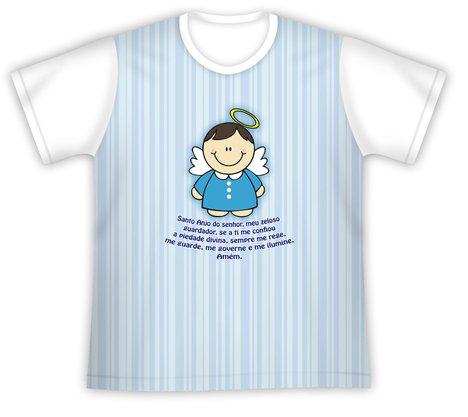 Camiseta Infantil Santo Anjo azul