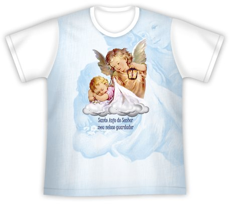 Camiseta Infantil Santo Anjo do Senhor