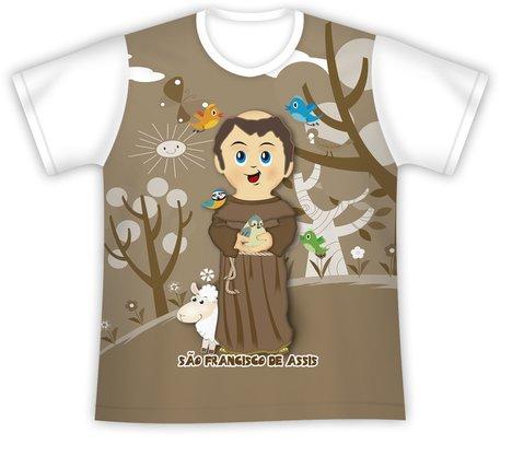 Camiseta Infantil São Francisco de Assis