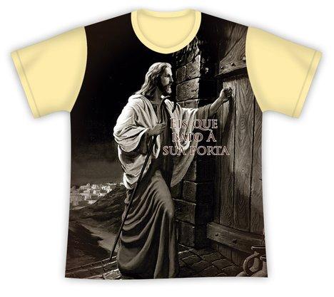 Camiseta Jesus bate à porta