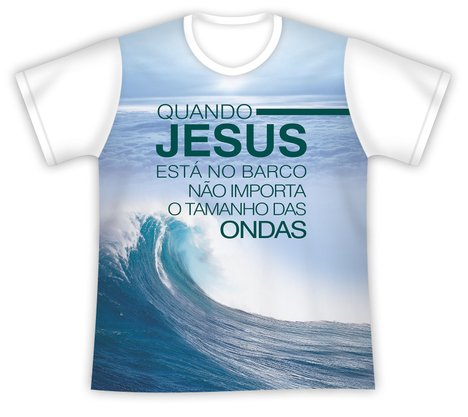Camiseta Jesus no Barco não Importa as Ondas