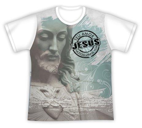 Camiseta Jesus Teu Amor Mudou Minha Vida