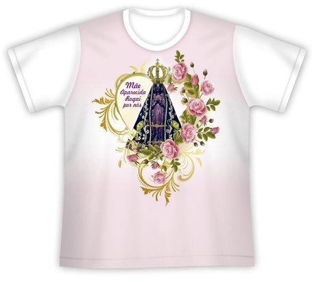 Camiseta Juvenil Mãe Aparecida Rogai por nós