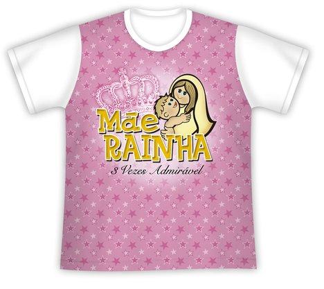 Camiseta Juvenil Mãe Rainha 3 vezes Admirável
