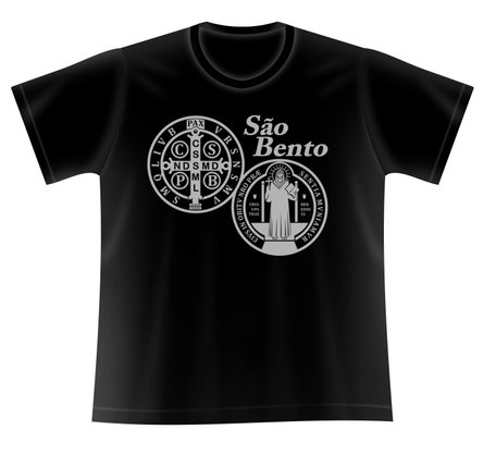 Camiseta Medalha de São Bento Prata