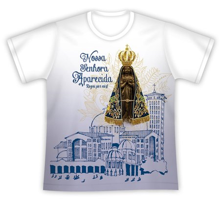 Camiseta Nossa Senhora Aparacida Rogai por nós
