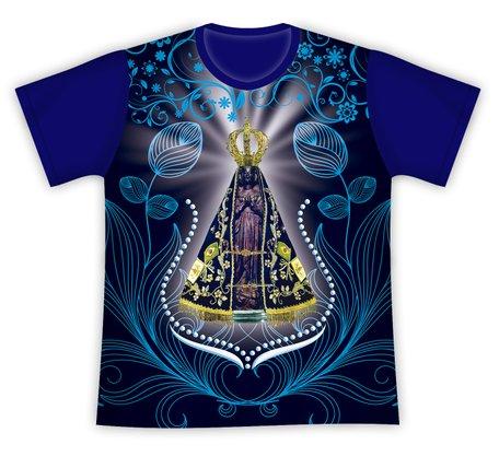 Camiseta Nossa Senhora Aparecida Azul Escuro