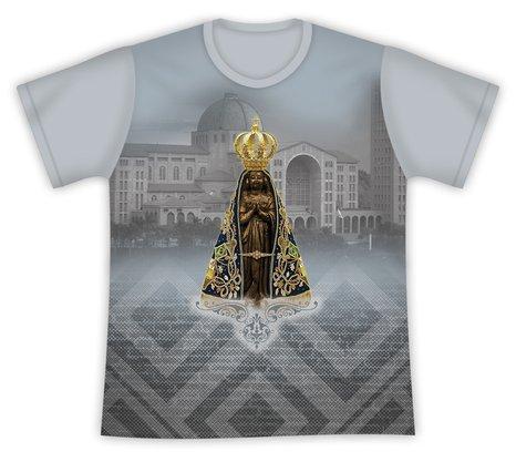 Camiseta Nossa Senhora Aparecida Santuário Cinza