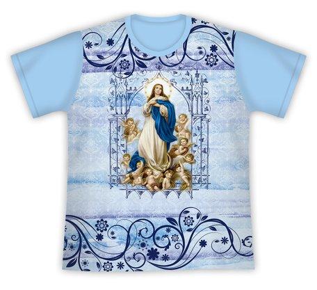 Camiseta Nossa Senhora da Conceição Floral
