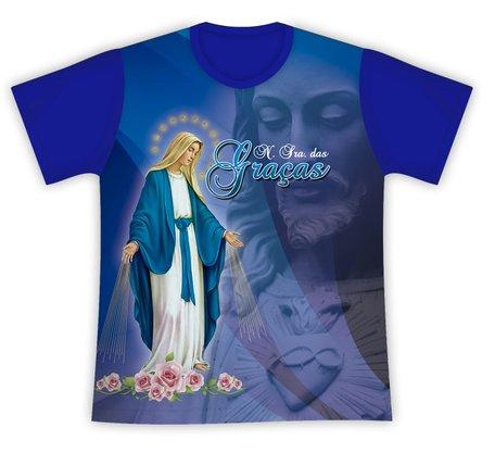 Camiseta Nossa Senhora das Graças e Jesus