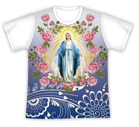 Camiseta Nossa Senhora das Graças Floral