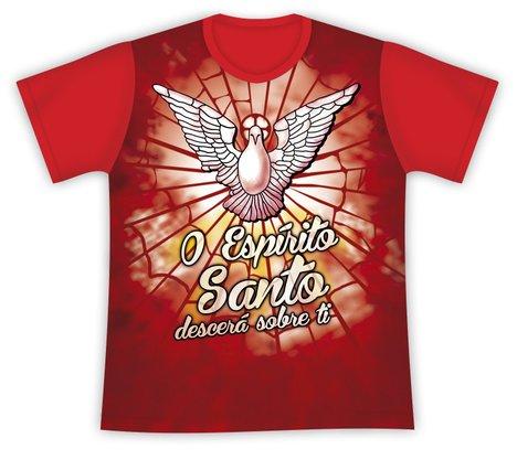 Camiseta O Espírito Santo Descerá Sobre Ti