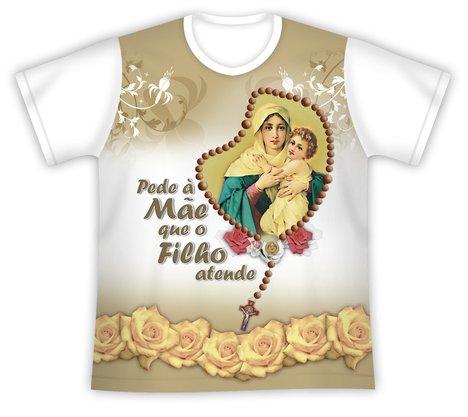 Camiseta Pede a Mãe Rainha que o Filho Atende