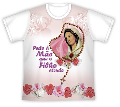 Camiseta Pede a Mãe Rosa Mística