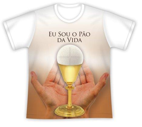 Camiseta Primeira Eucaristia Eu Sou o Pão da Vida