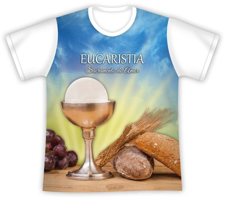 Camiseta Primeira Eucaristia Sacramento do Amor