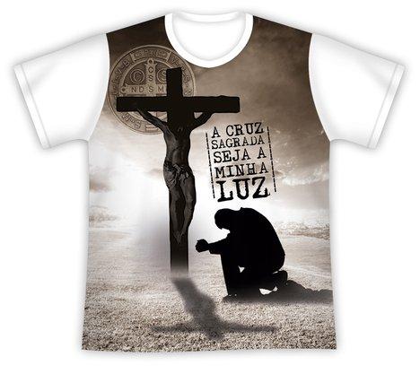 Camiseta São Bento Cruz Sagrada