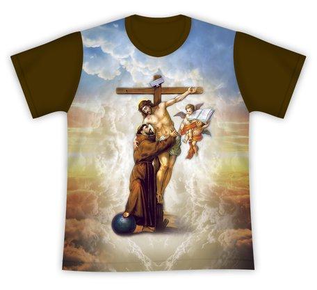 Camiseta São Francisco de Assis e Jesus