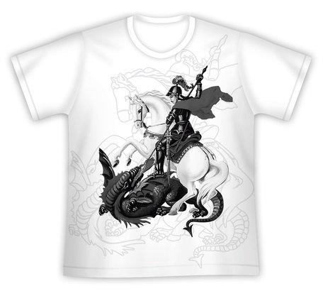 Camiseta São Jorge Estampa Preta