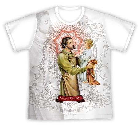 Camiseta São José Operário e Menino Jesus