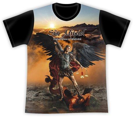 Camiseta São Miguel Arcanjo Defendei-nos no Combate