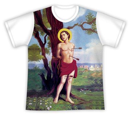 Camiseta São Sebastião Estampa Colorida