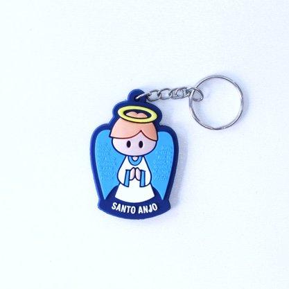 Chaveiro Emborrachado - Santo Anjo azul