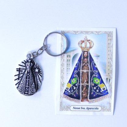 Chaveiro Nossa Senhora Aparecida - prata