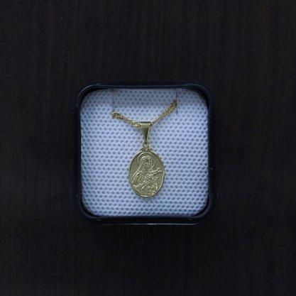 Colar Medalha Santa Rita