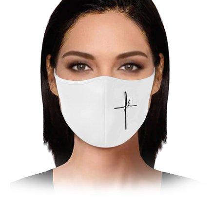 Máscara Fé branca