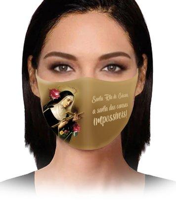 Máscara Santa Rita de Cássia