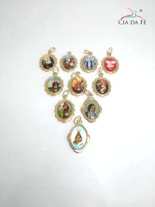 Medalha Chapa Resinada Religiosa