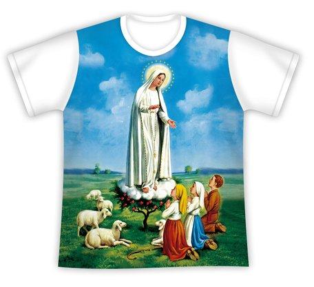 Camiseta Nossa Senhora de Fátima e os Pastorinhos
